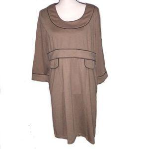 New Vertigo Paris Dress 3/4 Sleeves Knee Length XL